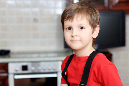 Little boy at his home. Stock Photo - 6799006