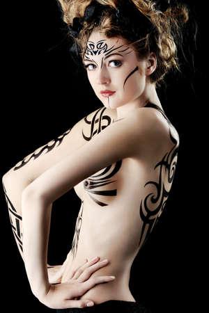 Body painting project: art, fashion, beauty Stock Photo - 6903527