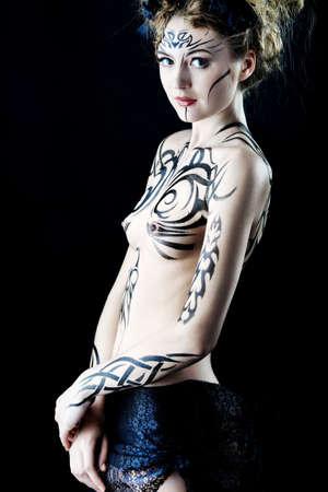 Body painting project: art, fashion, beauty Stock Photo - 6903525