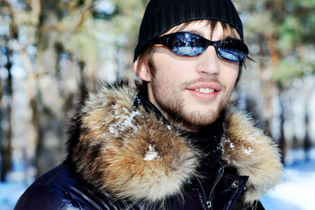 Portrait of a handsome man outdoor in winter. Stock Photo - 6939071