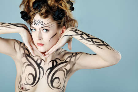 Body painting project: art, fashion, beauty Stock Photo - 7029022