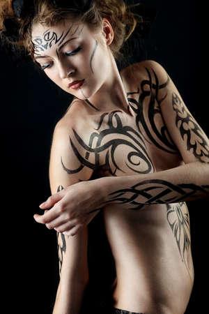 Body painting project: art, fashion, beauty Stock Photo - 7096192
