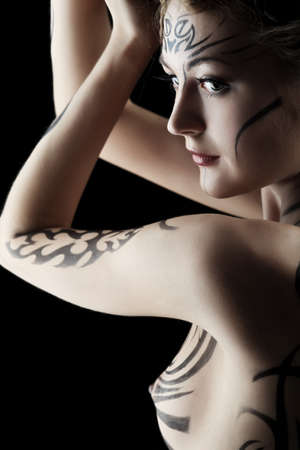 Body painting project: art, fashion, beauty Stock Photo - 7096191