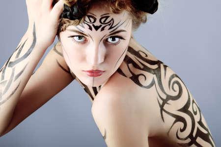 Body painting project: art, fashion, beauty Stock Photo - 7344812