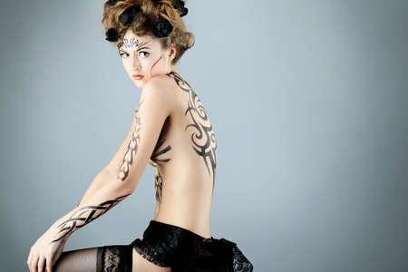 desnudo artistico: Proyecto de pintura de cuerpo: arte, moda, belleza