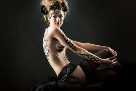 Body painting project: art, fashion, beauty Stock Photo - 7344815