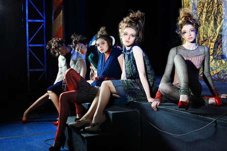 art show: Fashion project, retro style. Stock Photo