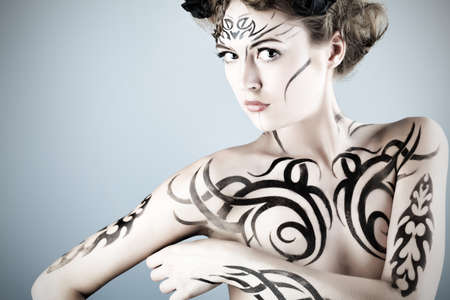Body painting project: art, fashion, beauty Stock Photo - 7251818