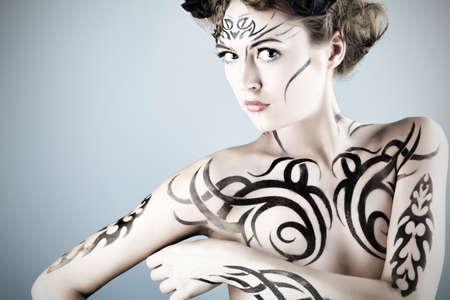 Body painting project: art, fashion, beauty Stock Photo - 7251818