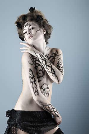 Body painting project: art, fashion, beauty Stock Photo - 7251196