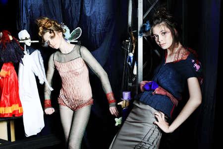 Fashion project, retro style. photo