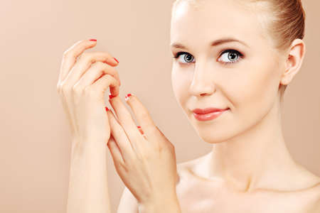 Portrait of a styled professional model. Theme: beauty, healthcare. Stock Photo - 7377183