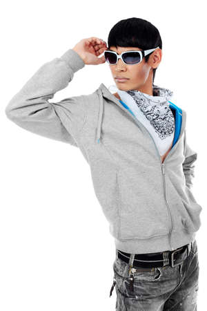 Shot of a stylish young man. Isolated over white background. Stock Photo - 7389957