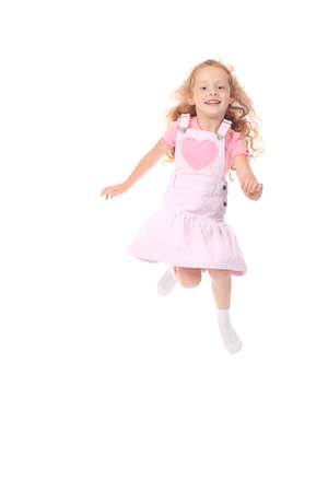 Shot of a jumping little girl.  Stock Photo - 7462763