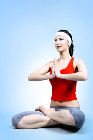 Shot of a sporty young woman. Active lifestyle, wellness, yoga. photo