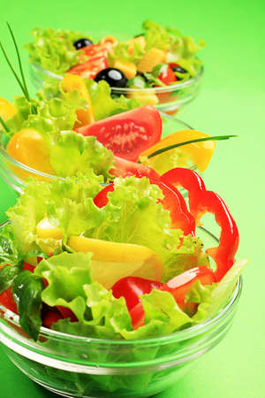 Food theme: fresh vegetable salad. photo