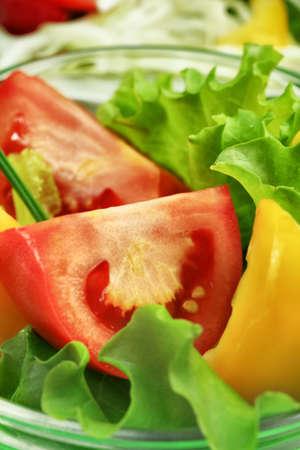 Food theme: fresh vegetable salad. Stock Photo - 7632797