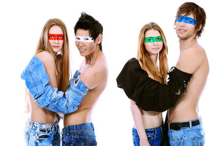 Shot of artistic young people of different nationalites posing together. Stock Photo - 7647785