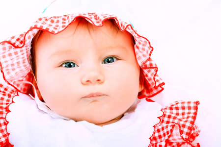 Portrait of a beautiful baby. photo