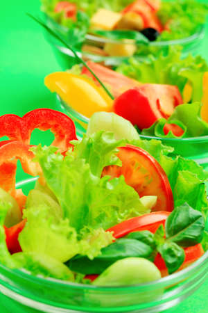 Food theme: fresh vegetable salad. photo