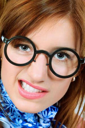 Portrait of funny girl student. Stock Photo - 8077021