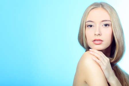 Portrait of a beautiful  professional model. Theme: healthcare, beauty, fashion photo