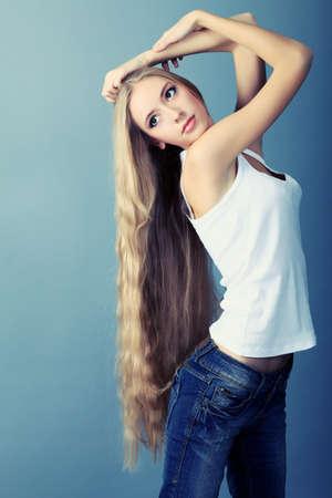 Portrait of a beautiful  professional model. Theme: healthcare, beauty, fashion Stock Photo - 8109482