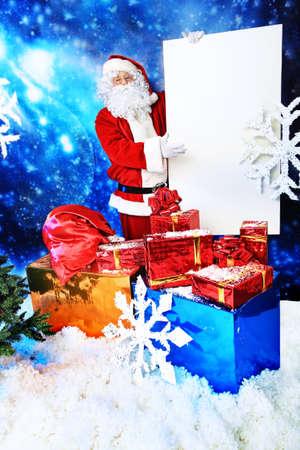 'saint nicholas': Christmas theme: Santa  gifts, snowy design.