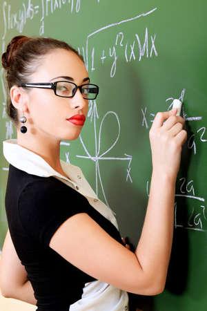 profesor: Tema educativo: Retrato de un profesor dando una Conferencia.
