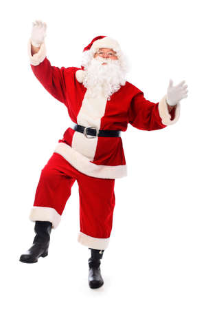 claus: Christmas theme: happy Santa Claus. Isolated over white background.
