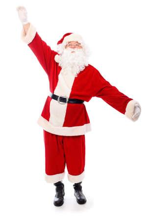 Christmas theme: happy Santa Claus. Isolated over white background. photo