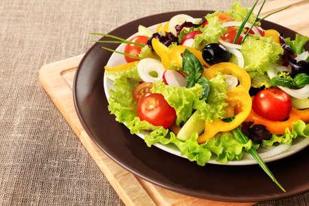 italienisches essen: Essen-Thema: Frischer Gem�sesalat.