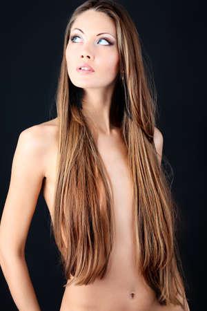 Portrait of a professional model. Theme: healthcare, beauty, fashion photo