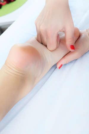 Shot of spa salon, reflexology foot massage. Stock Photo - 9006773