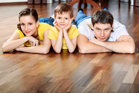 Happy parents with their son at home. Stock Photo - 9073320