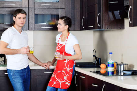 Happy married couple having a rest at home. Stock Photo - 9073904