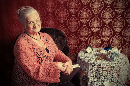 Portrait of a smiling senior woman having a rest at home. Stock Photo - 9074227