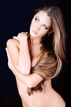 Portrait of a professional model. Theme: healthcare, beauty, fashion Stock Photo - 9184362