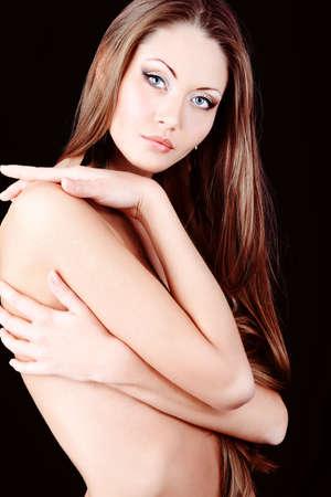 Portrait of a professional model. Theme: healthcare, beauty, fashion Stock Photo - 9187436