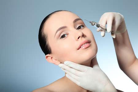 botox: Beauty therapeutical female skin juventation.