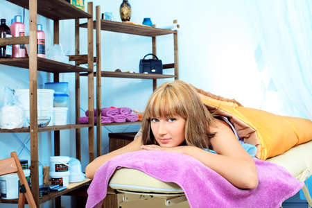 Beautiful young woman getting spa treatment at a salon. Beauty, healthcare. Stock Photo - 9454734