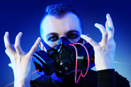 Shot of a conceptual man in a respirator. Stock Photo - 9489478