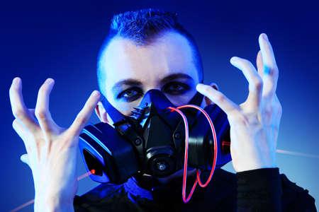 Shot of a conceptual man in a respirator. Stock Photo - 9489478