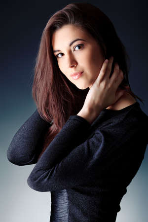 Portrait of a beautiful young woman. photo