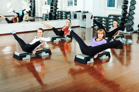 Group of young women in the gym centre.  Stock Photo - 9524402