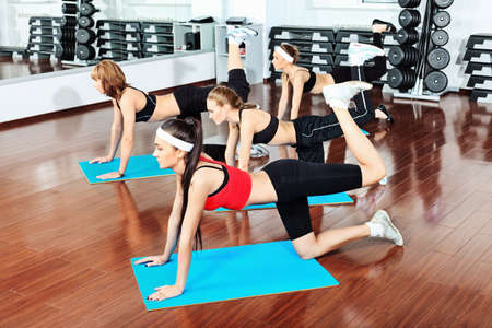 Group of young women in the gym centre.  Stock Photo - 9524404