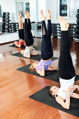 Group of young women in the gym centre. Stock Photo - 9524401