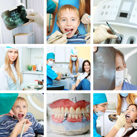 Dental collge: work in clinic (dental surgery, healthcare, medicine)  Stock Photo - 9524484