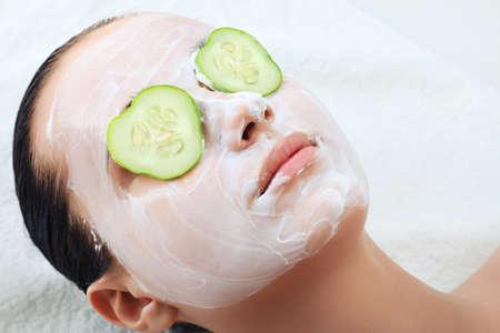 facial hygiene: portrait of beautiful spa girl. beauty, healthcare.