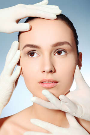 Portrait of a styled professional model. Theme: beauty, spa, healthcare. photo